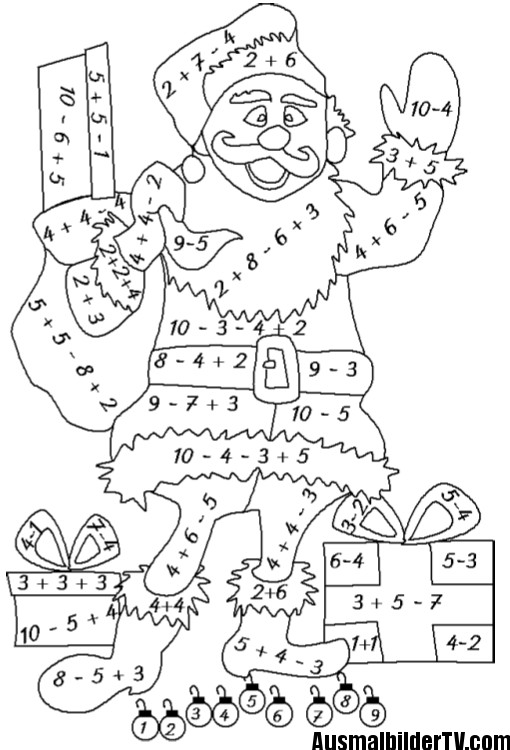 Mathe Ausmalbilder  ausmalbilder klasse 1 Mathematik