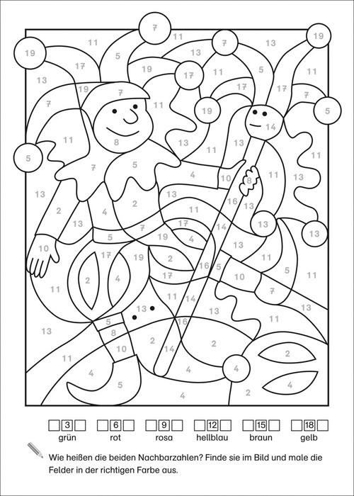 Mathe Ausmalbilder  LERNSTERN Mathe Malblock Rechnen bis 20