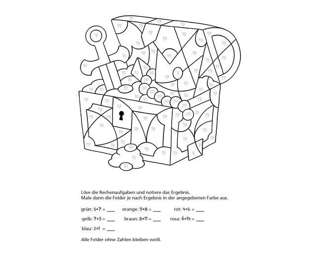 Mathe Ausmalbilder  Mathe Malbuch Rechnen bis 100 edumero
