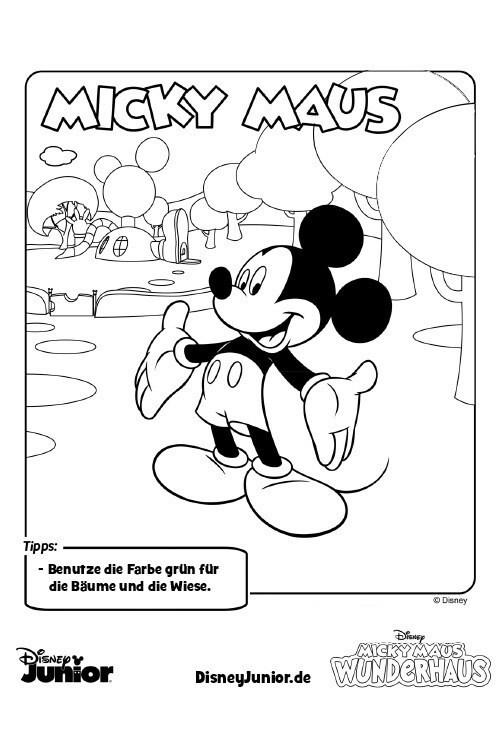 Die Besten Ideen Für Micky Maus Wunderhaus Ausmalbilder Beste
