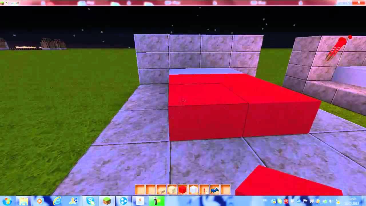 Minecraft Bett Bauen  Minecraft Bett bauen