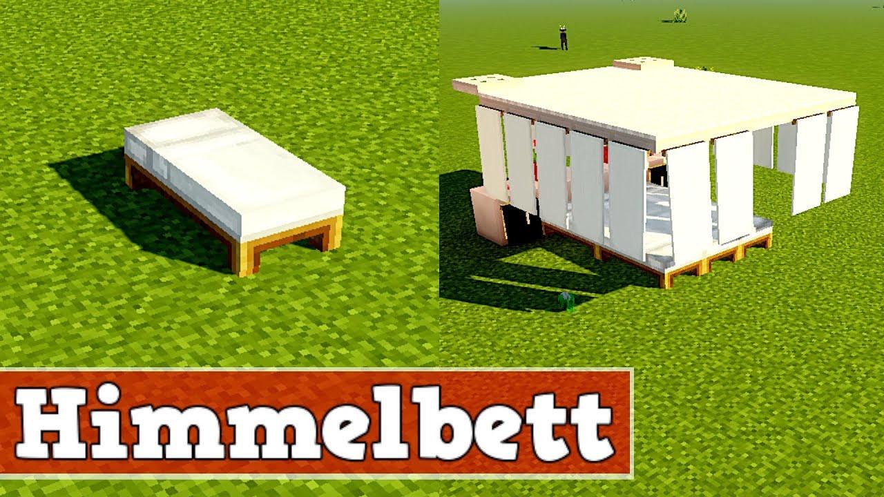 Minecraft Bett Bauen  Wie baut man ein schönes cooles Bett in Minecraft