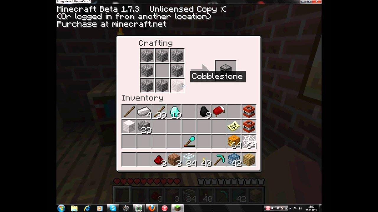 Minecraft Bett Bauen  minecraft hacke axt ofen bett usw bauen