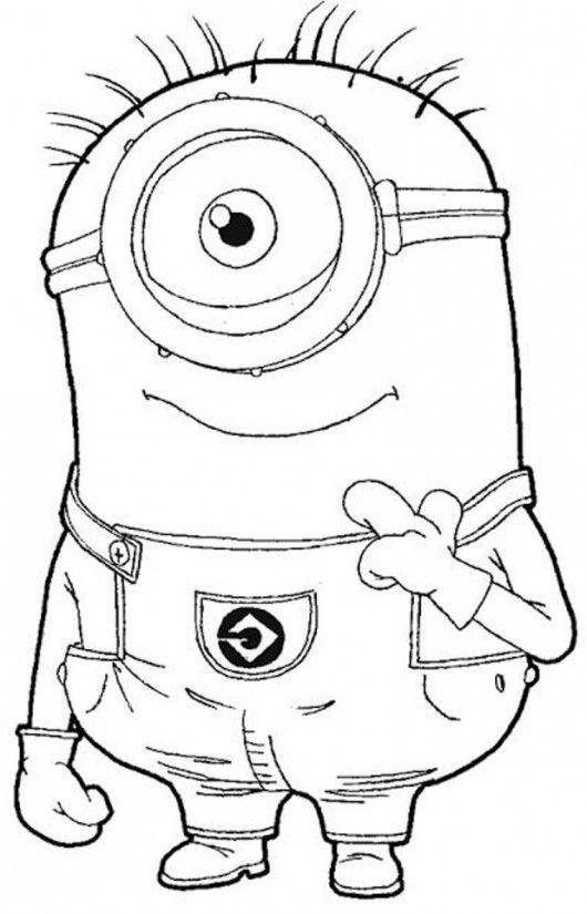 Minion Ausmalbilder  Die besten 25 Minion ausmalbilder Ideen auf Pinterest