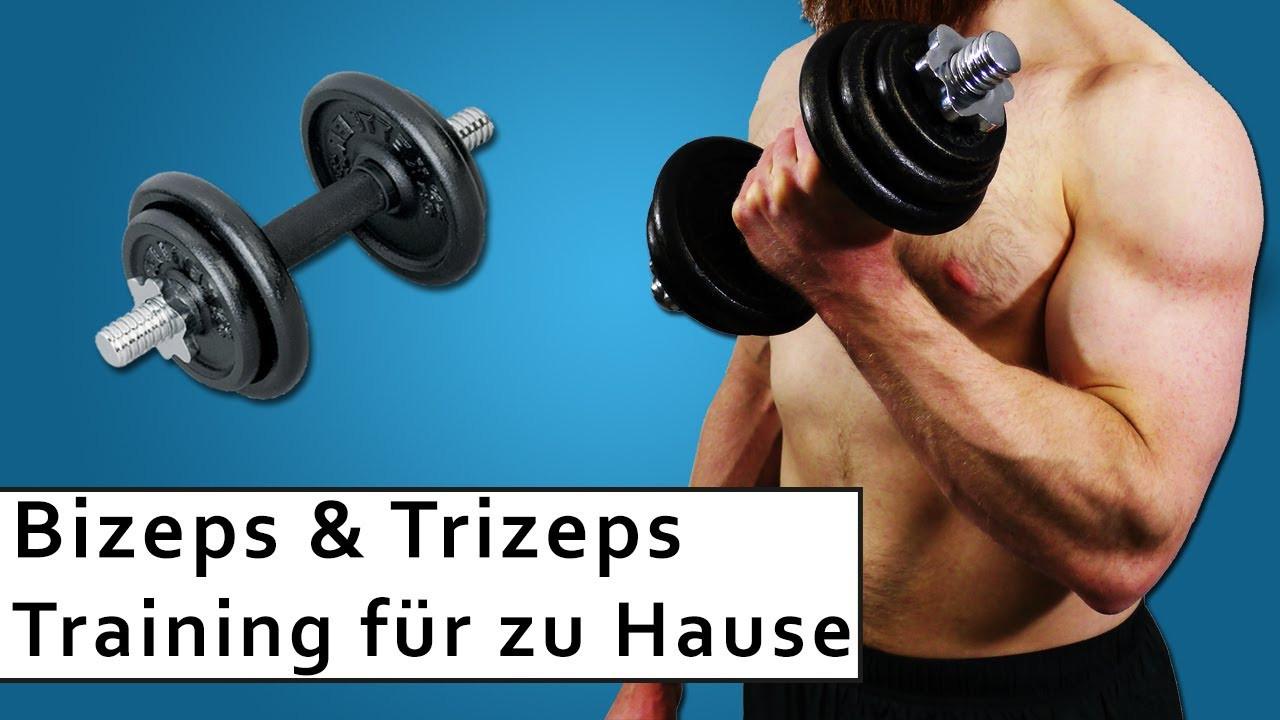 Muskelaufbau Zu Hause  Bizeps und Trizeps Training Muskelaufbau zuhause