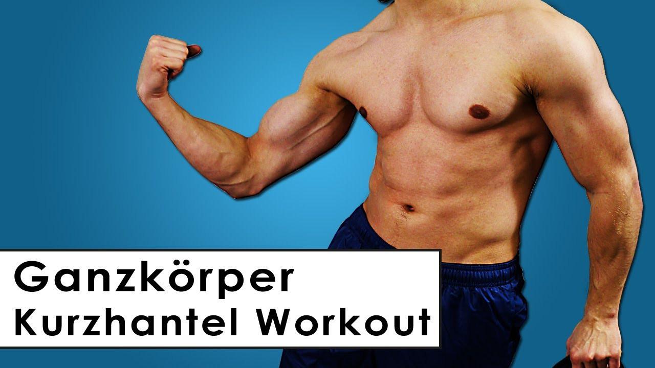 Muskelaufbau Zu Hause  Ganzkörper Trainingsplan mit Kurzhanteln Muskelaufbau