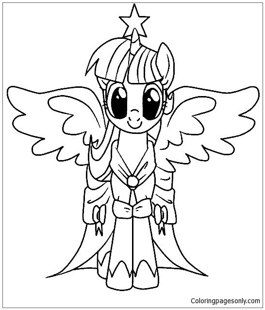 My Little Pony Twilight Sparkle Ausmalbilder  My Little Pony Malvorlagen Coloring Page Free Coloring