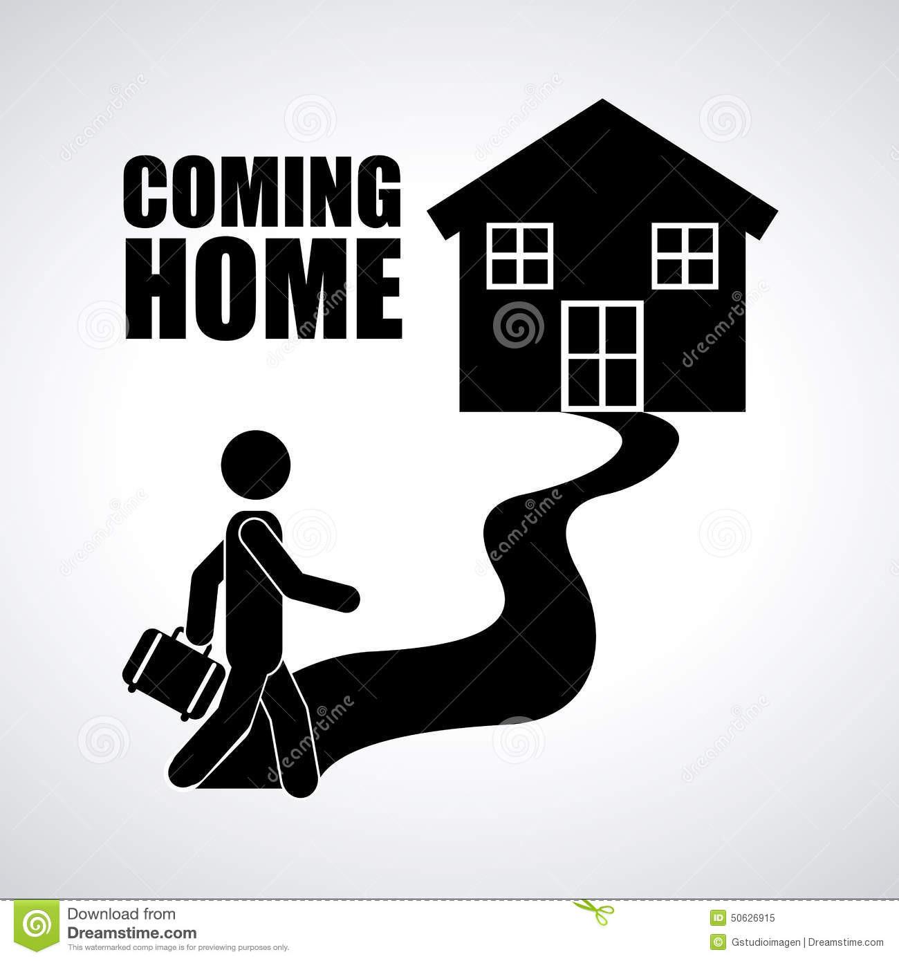 Nach Hause Kommen  Nach Hause kommen vektor abbildung Illustration von