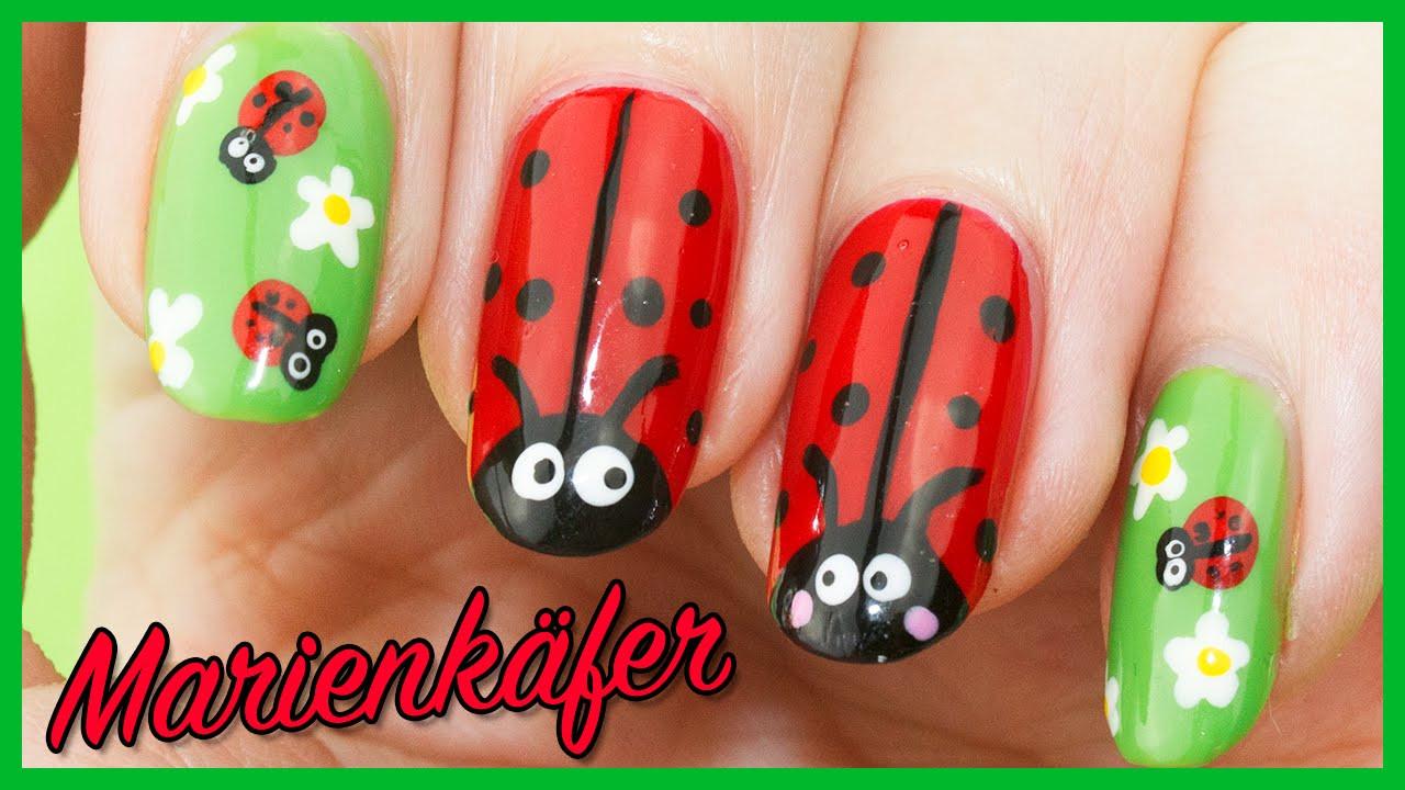 Nageldesign Frühling Nägel  Marienkäfer Nageldesign 🐞 Süße Frühling Nägel