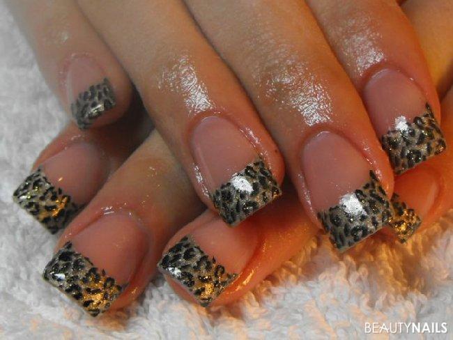 Nageldesign Leo  Leoparden Nageldesign Muster Gelnägel