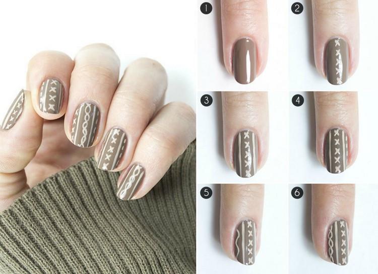 Nageldesign Selber Machen Anleitung  Nageldesign für den Winter Knit Nails als aktueller