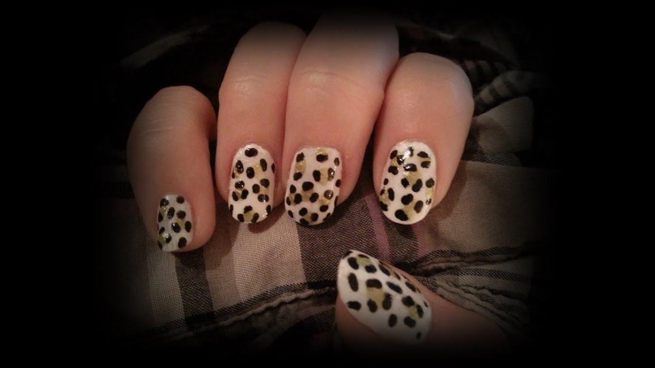 Nageldesign Selbst Machen  Leoparden Nageldesign