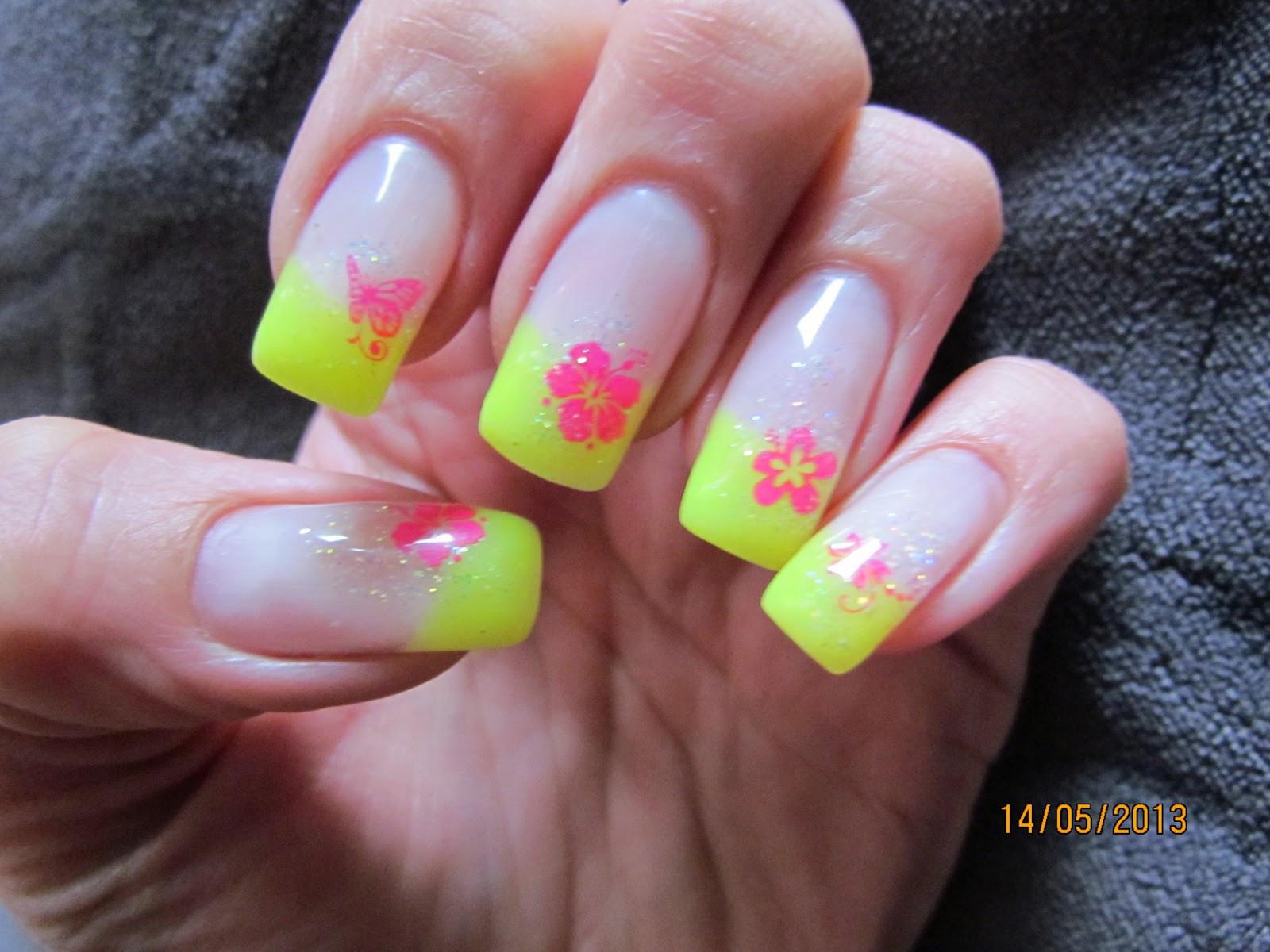 Nageldesign Sommer Neon  Nageldesign Neonfarben