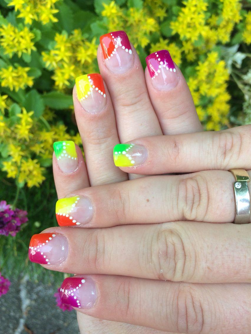 Nageldesign Sommer Neon  Neon Nageldesign Sommer Nail art