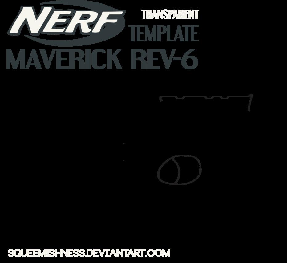 Nerf Ausmalbilder  NERF Maverick Rev 6 by Squeemishness on DeviantArt