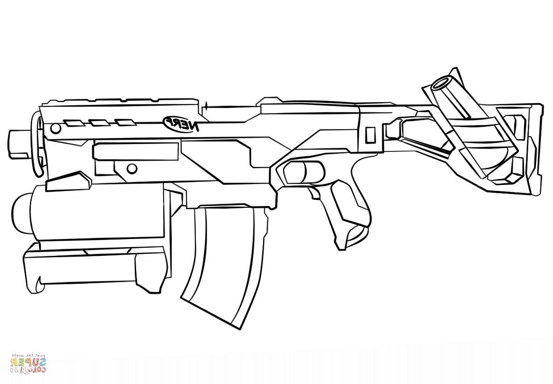 Nerf Ausmalbilder  Gun Coloring Pages F5TO Nerf Gun Coloring Page