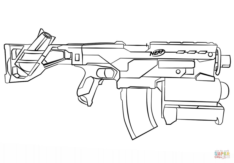 Nerf Ausmalbilder  Nerf Gun coloring page