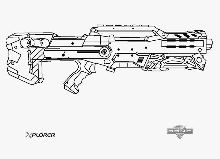 Nerf Ausmalbilder  Nerf Longshot Template This Means Nerf War