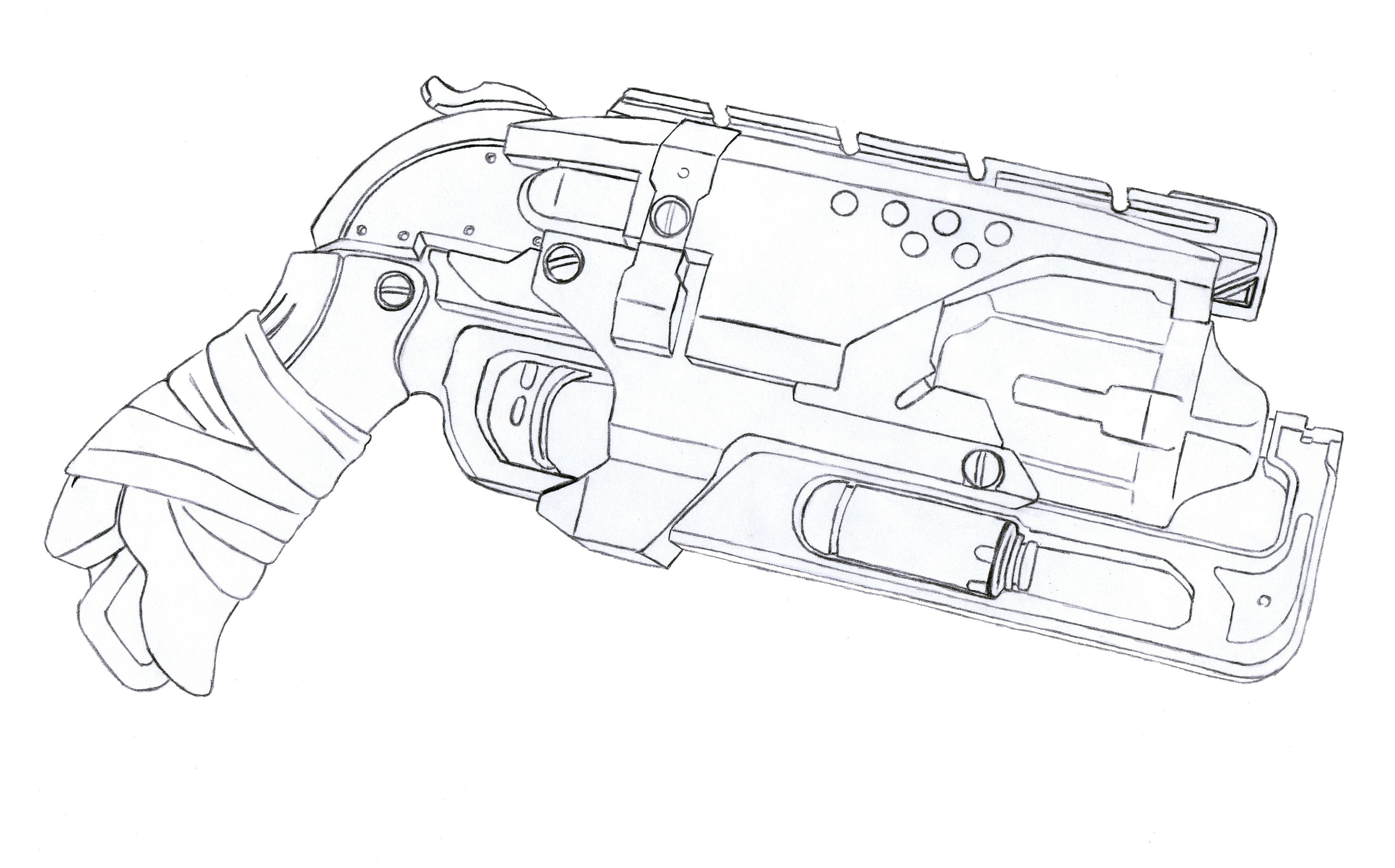 Nerf Ausmalbilder  Nerf Gun Coloring Pages Collection