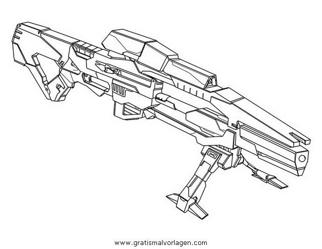 Nerf Ausmalbilder  Shotgun Kleurplaat Sniper Gratis Malvorlage In Menschen
