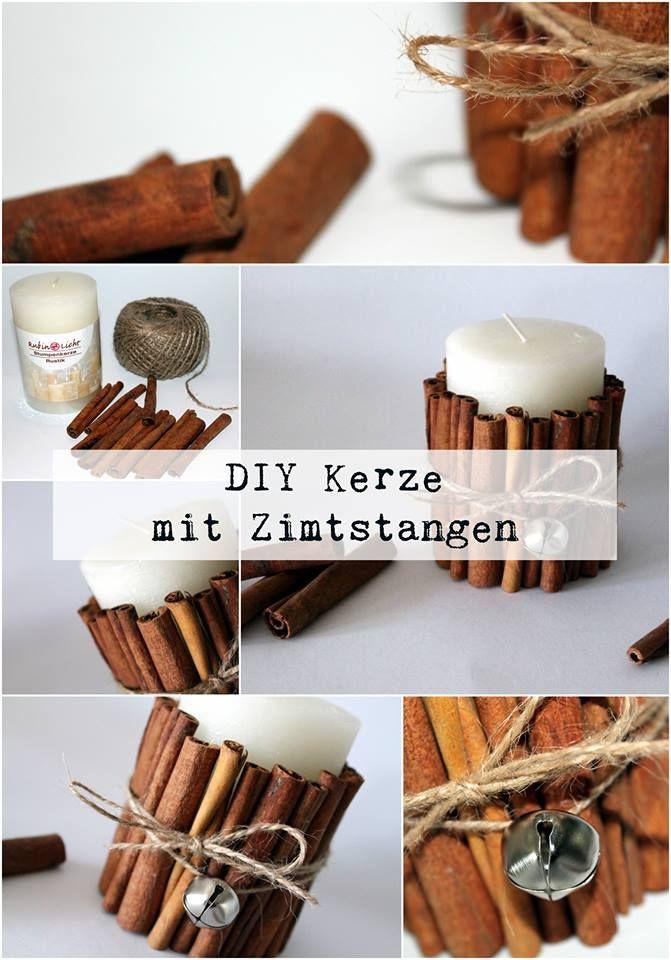 Nikolaus Geschenke Für Männer  DIY Kerze mit Zimtstangen Christmas