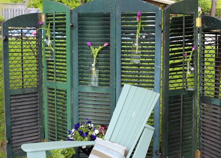 Paravents Für Den Garten  Paravent für Garten 15 Ideen für einen beweglichen