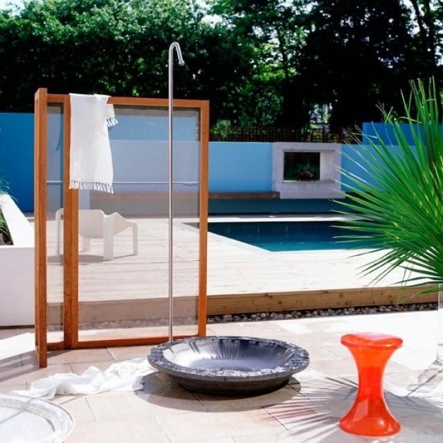 Paravents Für Den Garten  Paravent Für Gartendusche Die Dusche Fr Den Garten Solar