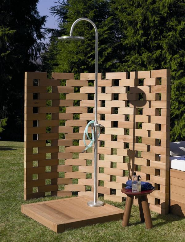 Paravents Für Den Garten  Die Dusche für den Garten Solar wie Wasserfall und mit