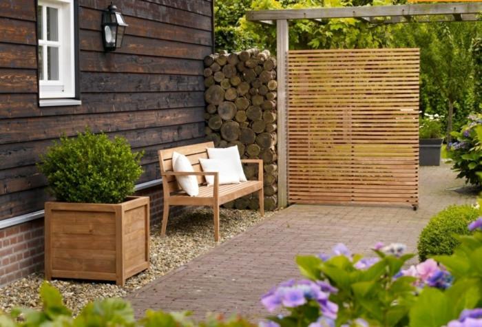 Paravents Für Den Garten  Paravent Garten innovative und kreative Gartengestaltung