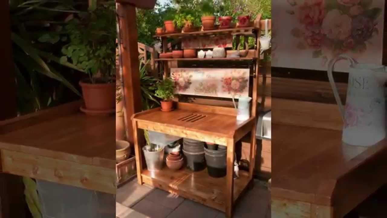 Pflanztisch Diy  Unser DIY Outdoor Pflanztisch Our Own DIY Outdoor