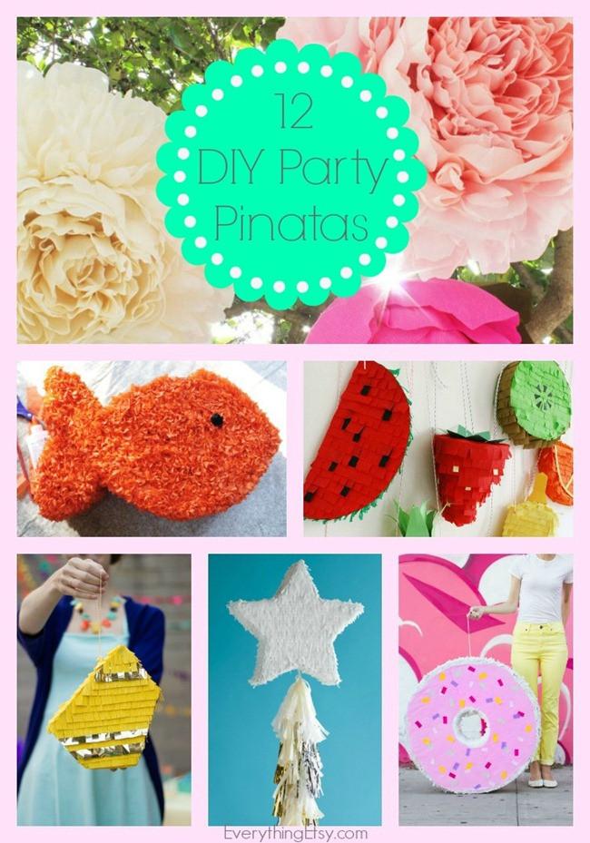 Pinata Diy  12 DIY Party Piñatas EverythingEtsy