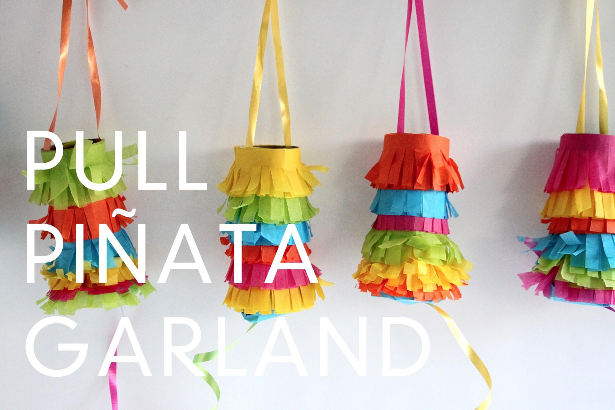 Pinata Diy  Make this Pull Piñata Garland