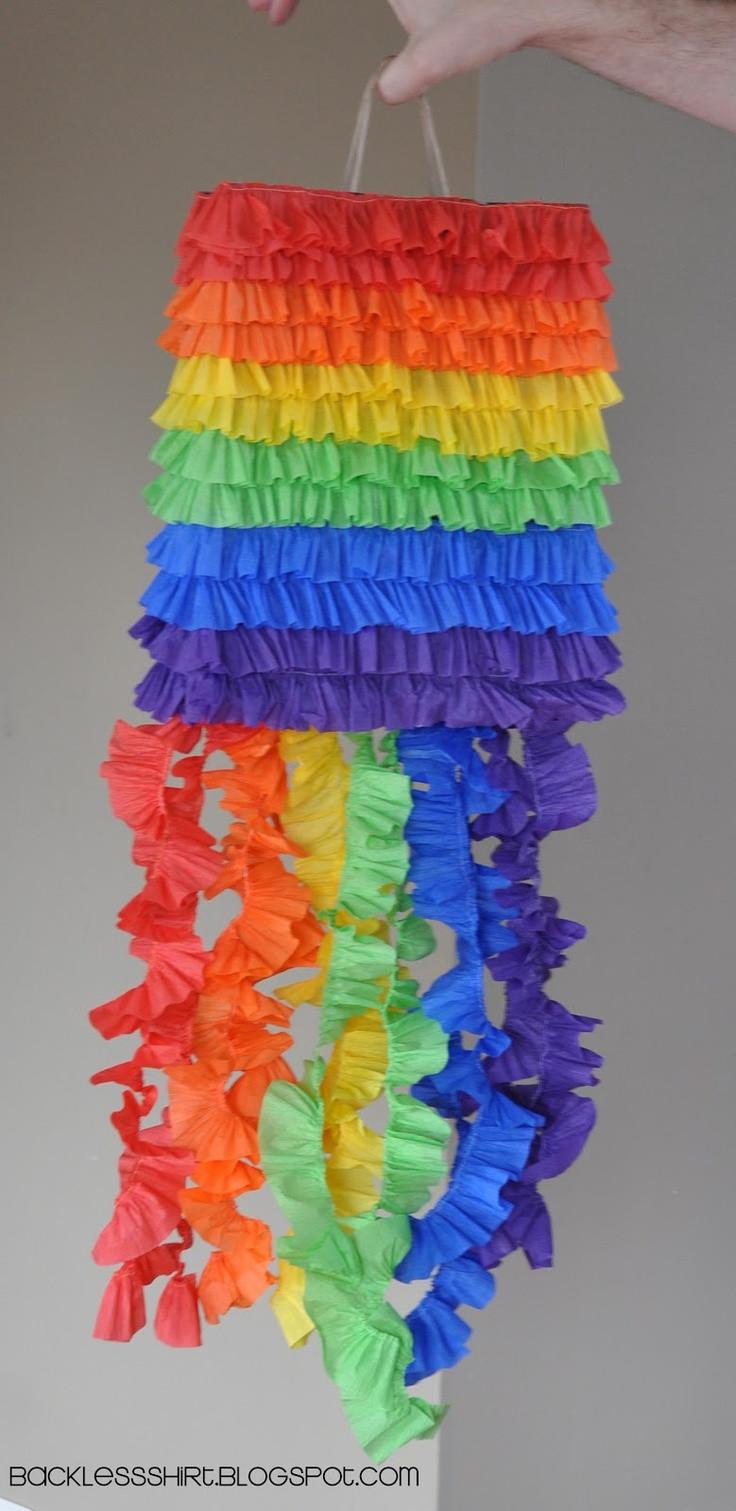 Pinata Diy  DIY pinata using a paper sack w a handle on top to hang