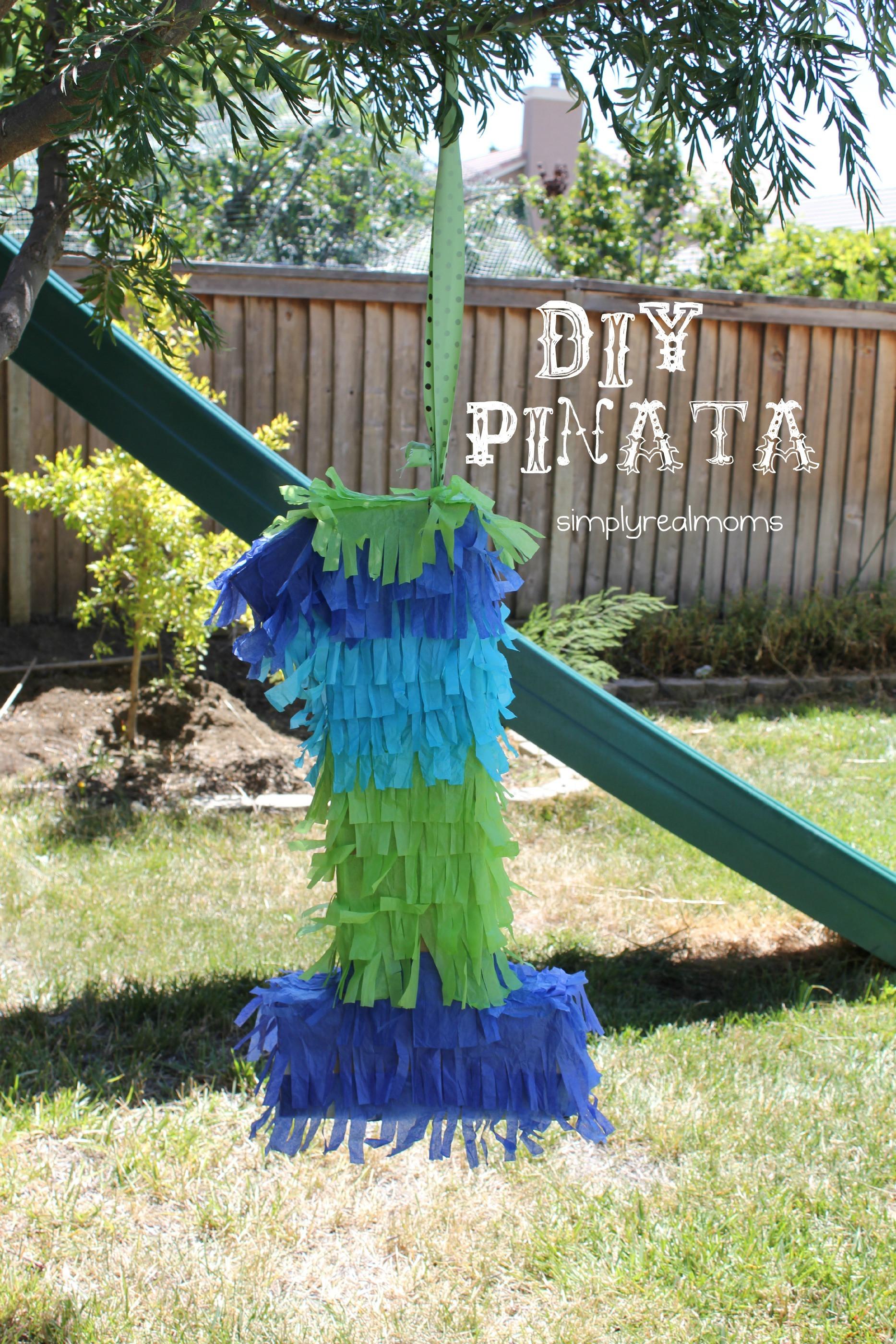 Pinata Diy  Jungle Themed Party DIY Number Piñata Simply Real Moms