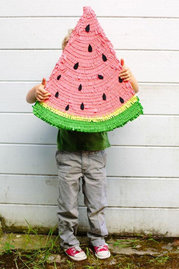 Pinata Diy  Watermelon Pinata DIY