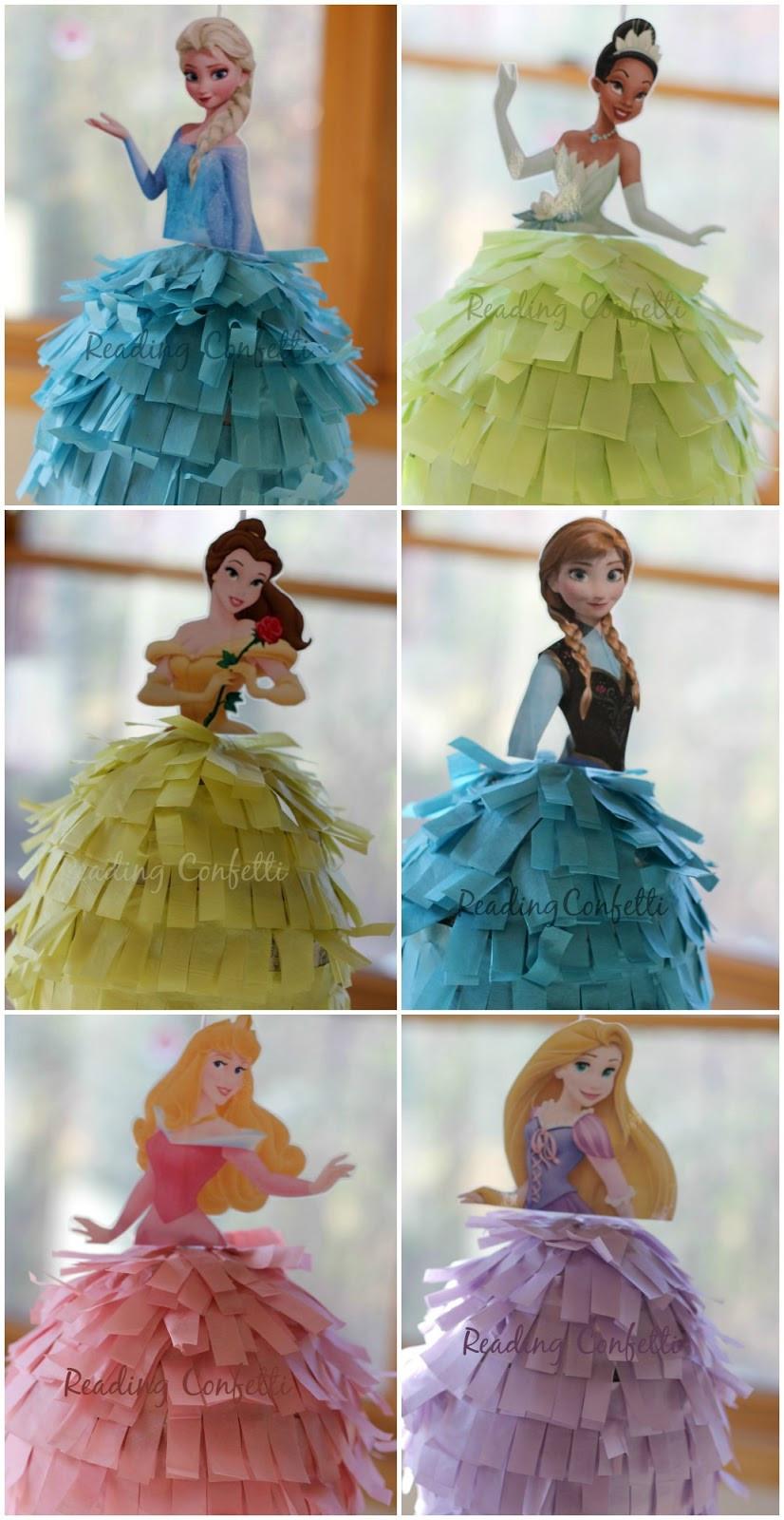 Pinata Diy  DIY Frozen or Princess Birthday Pinatas Reading Confetti