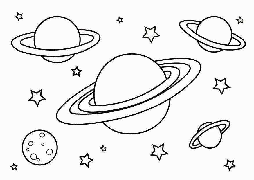 20 ideen für planeten und sterne ausmalbilder - beste