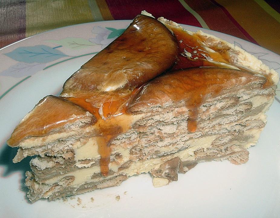 Portugiesischer Kuchen  Portugiesischer Kekskuchen ohne Backen von bienemaya