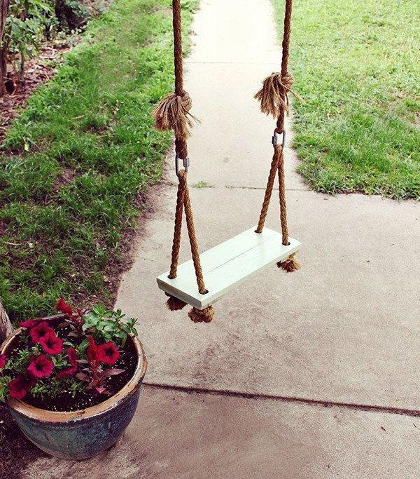 Schaukel Diy  16 Ideen für eine tolle und spaßige DIY Gartenschaukel