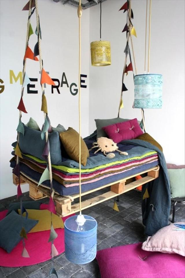 Schaukel Diy  DIY Schaukel aus Europaletten 25 märchenhafte Ideen für Sie