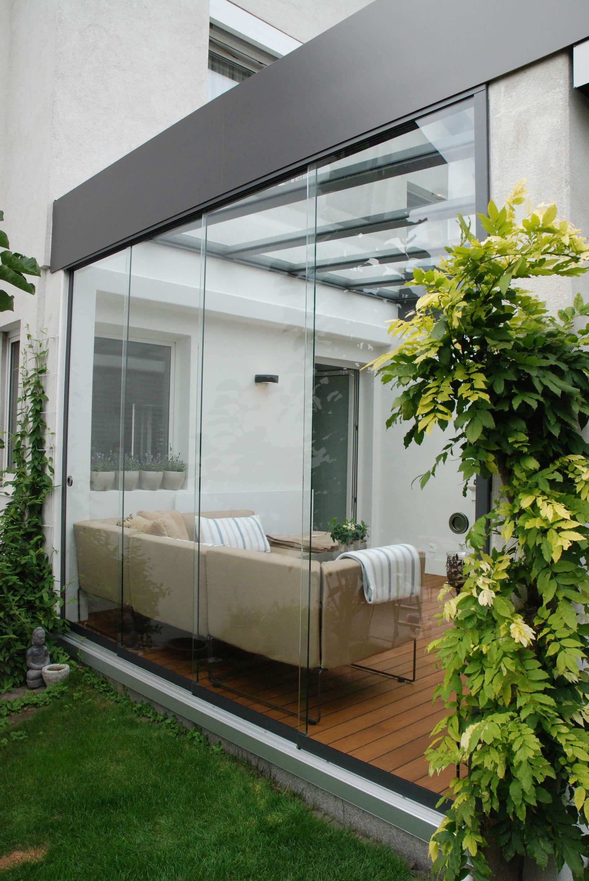 Schiebetür Terrasse  Terrasse Schiebetüren Systeme mit Dachverglasung aus VSG