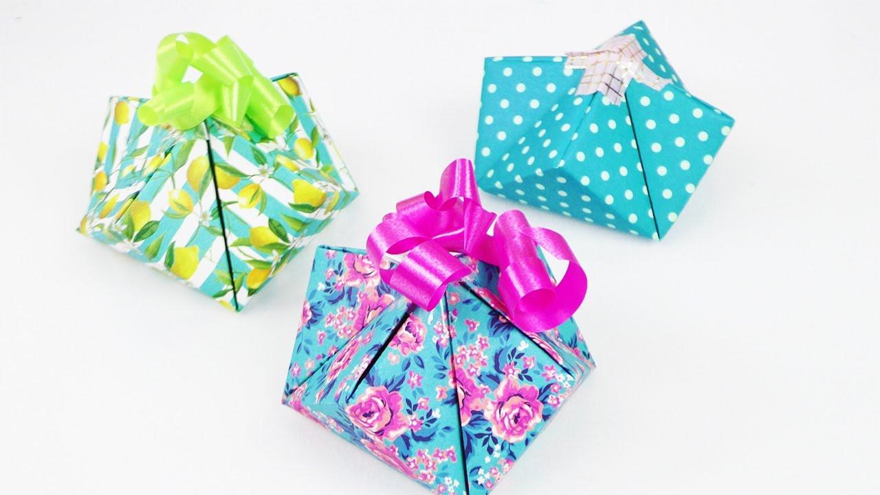 Schnelle Geschenke Selber Machen  Süße Geschenkverpackung falten