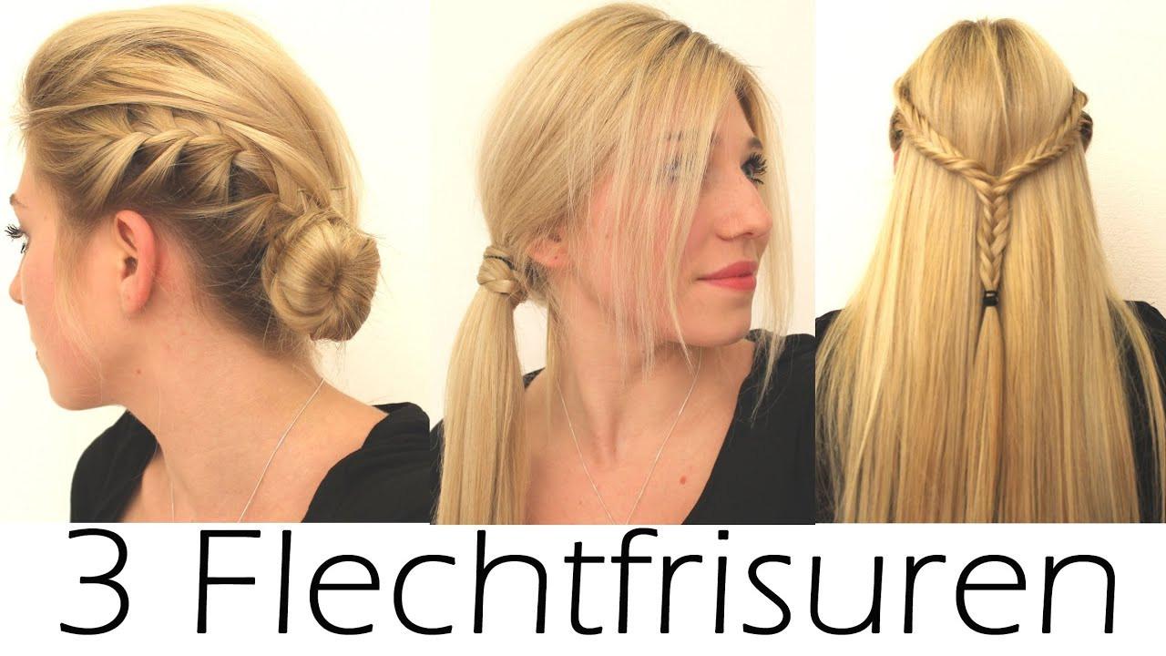 Schöne Einfache Frisuren  3 schöne & einfache Flechtfrisuren Alltag Schule