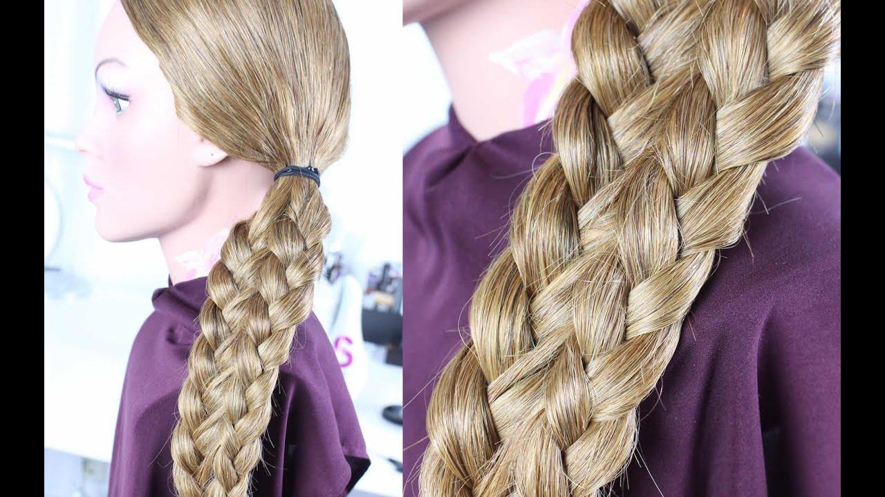 Schöne Einfache Frisuren  Einfache Frisuren Schöne Flechtfrisur mittellange lange