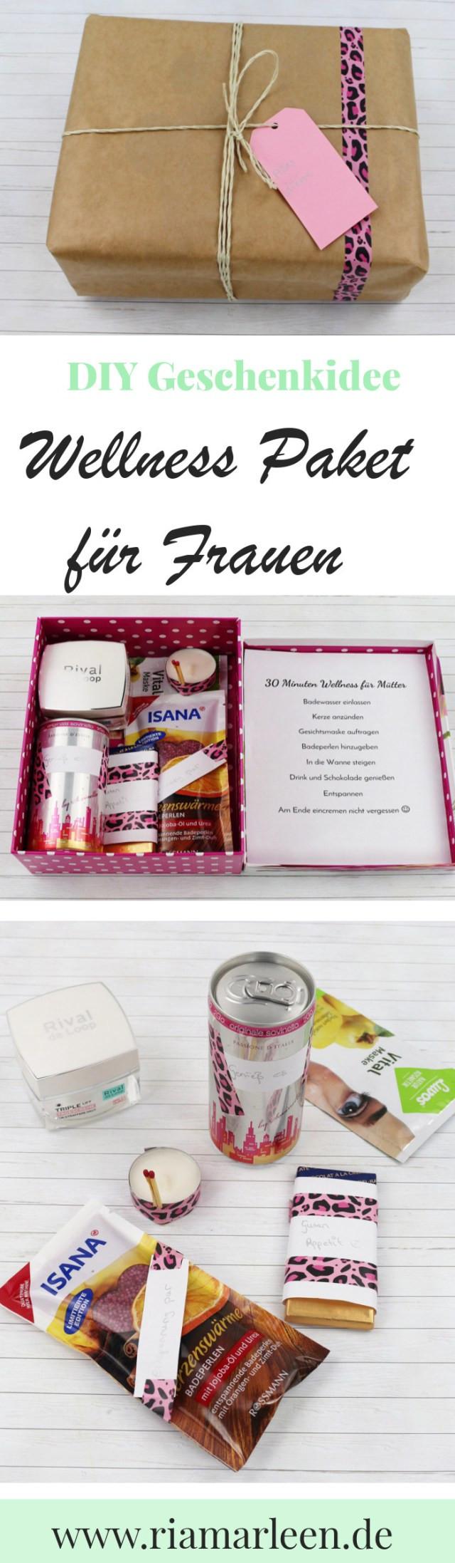 Schöne Geschenke Für Frauen  Schöne DIY Geschenkidee für Frauen Wellness Paket