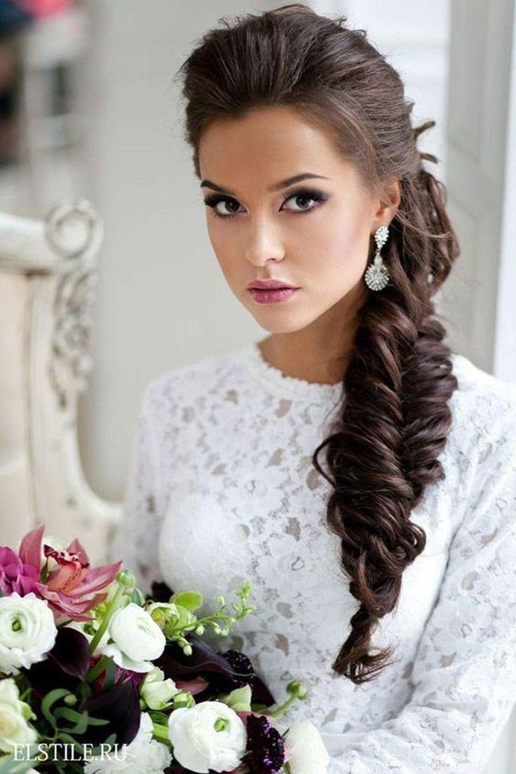 Schöne Hochzeit  Schöne Hochzeit Frisuren Ideen Für Lockiges Haar