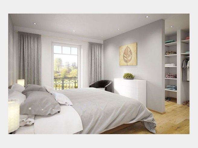 Schöne Schlafzimmer  Mit einem zarten Grau im Schlafzimmer schaffen Sie eine