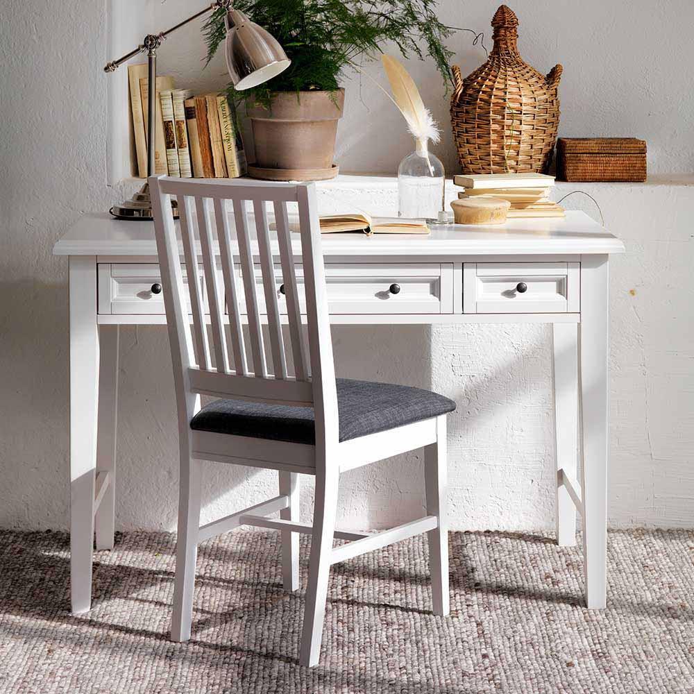 Schreibtisch Skandinavisch  Schreibtisch Cusira in Weiß skandinavisch