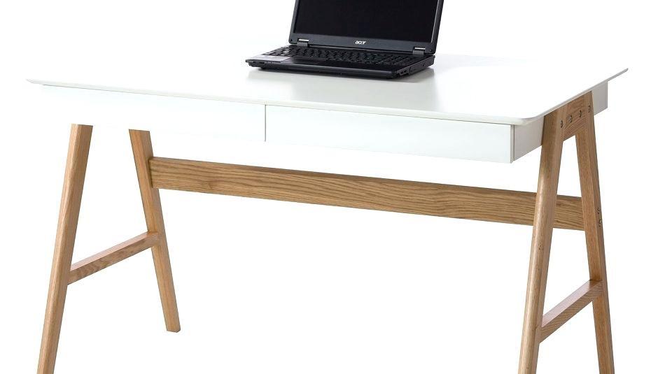 Schreibtisch Skandinavisch  Schreibtisch Weis Mal Klein Hochglanz Schubladen Design