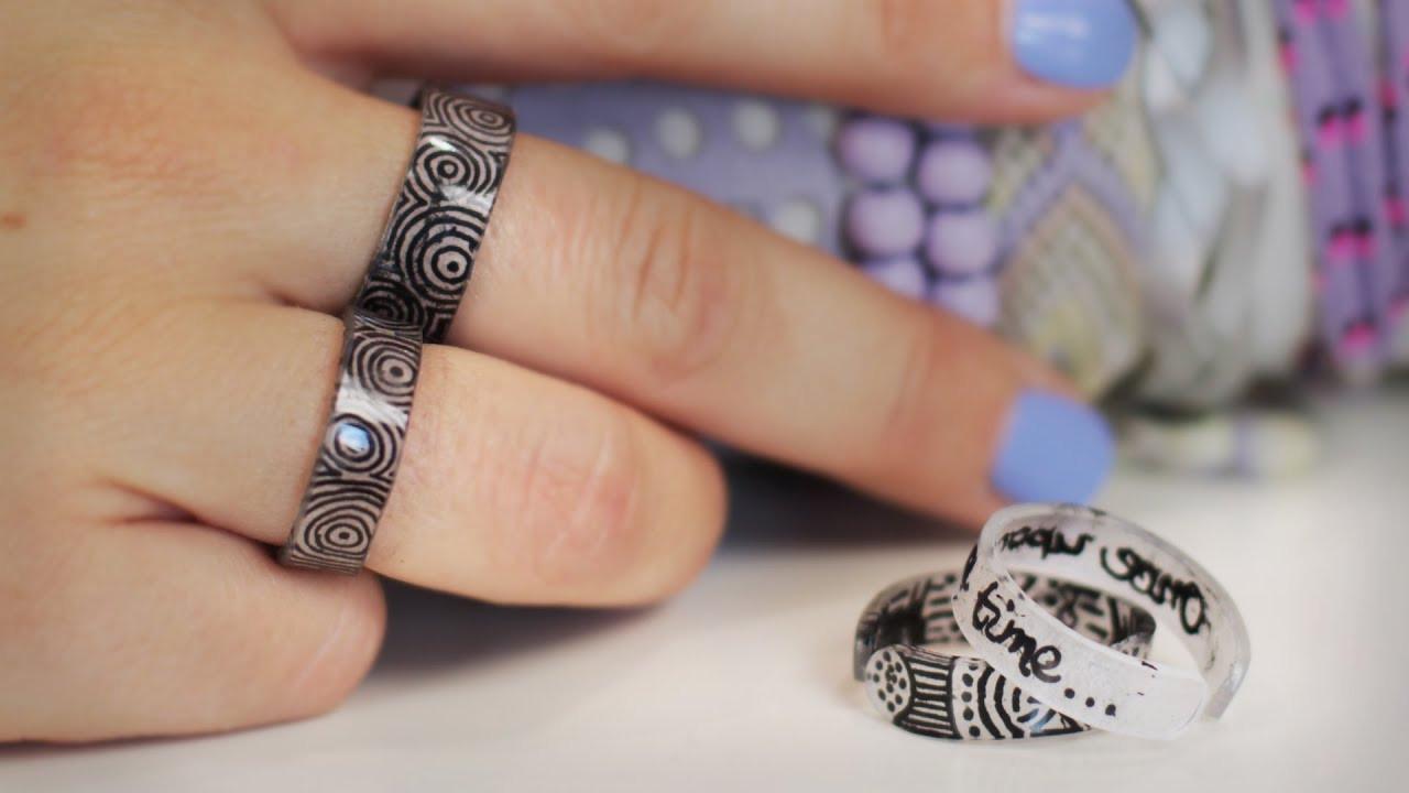 Schrumpffolie Diy  DIY Ringe aus Schrumpffolie komplett selbst gestalten